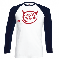 DEVIL INSIDE  BASEBALL - INSPIRED BY TOM ELLIS LUCIFER